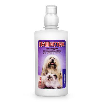 ПУШИСТИК шампунь гигиенический для собак и кошек с эффектом улучшения структуры шерсти