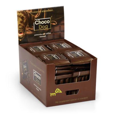 CHOCO DOG® шоколад для собак тёмный в шоу-боксе