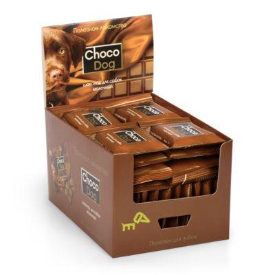 CHOCO DOG® шоколад для собак молочный в шоу-боксе