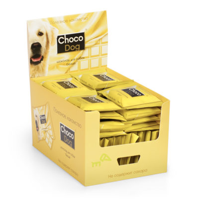 CHOCO DOG® шоколад для собак белый 85г в шоу-боксе