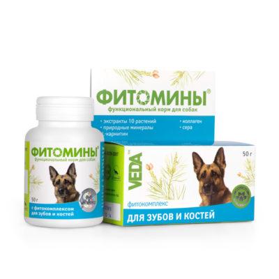 ФИТОМИНЫ® с фитокомплексом для зубов и костей для собак