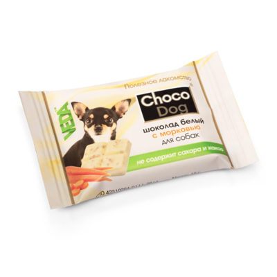 CHOCO DOG® шоколад белый с морковью