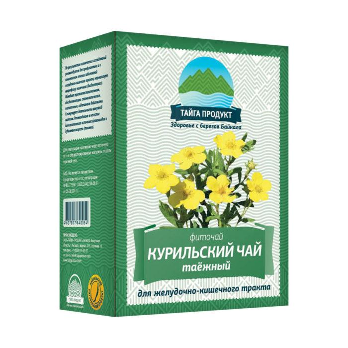 КУРИЛЬСКИЙ ЧАЙ таёжный - фиточай 50г листовой (для ЖКТ)