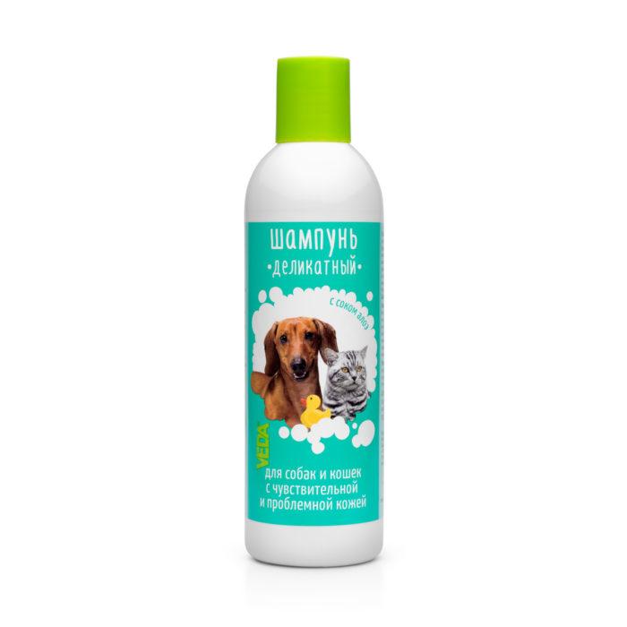 Деликатный шампунь для собак и кошек с проблемной кожей