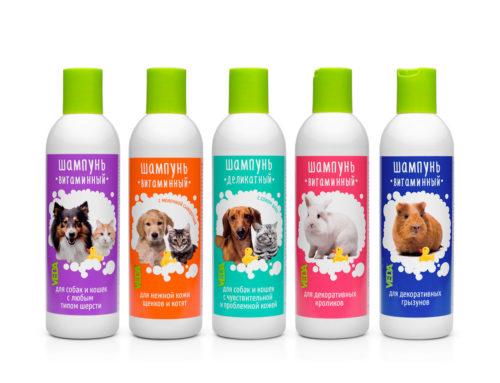 Новинка — Витаминные шампуни для собак, кошек, кроликов и грызунов
