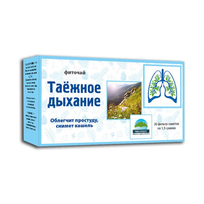 Таежное дыхание - фиточай 20 фильтр-пакетов по 1,5г (от кашля)