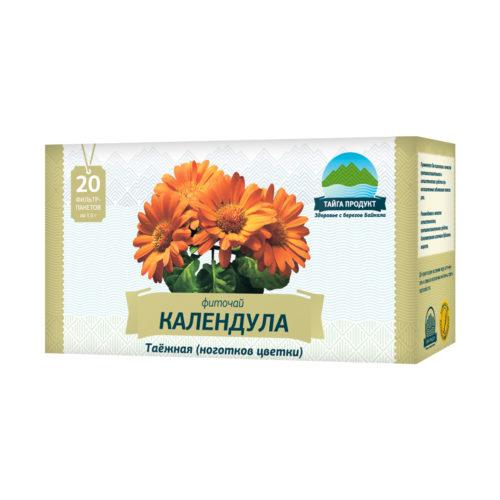 Календула таёжная - фиточай 20 фильтр-пакетов по 1,5г (противовоспалительный, антисептический)