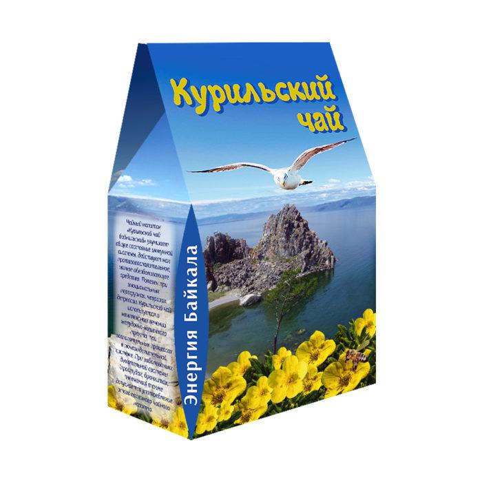 """Фиточай """"Курильский чай"""" в сувенирной коробке 100гр. (чайка)"""