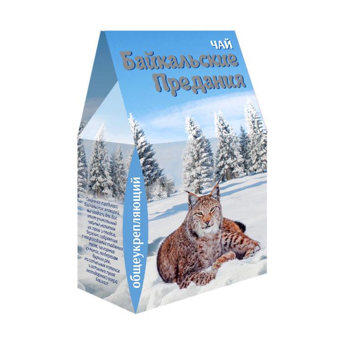 """Фиточай """"Байкальские предания"""" в сувенирной коробке 100гр. (общеукрепляющий)"""