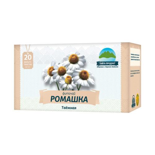 Ромашка таёжная - фиточай 20 фильтр-пакетов по 1,5г (противовоспалительный, антисептический)