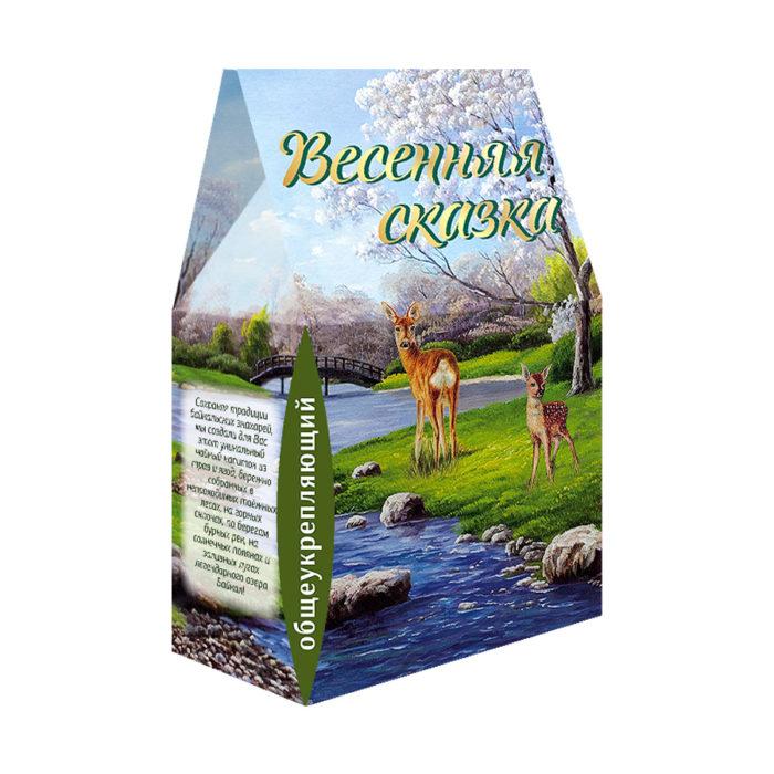 """Фиточай """"Весенняя сказка"""" в сувенирной коробке 100гр. (общеукрепляющий)"""