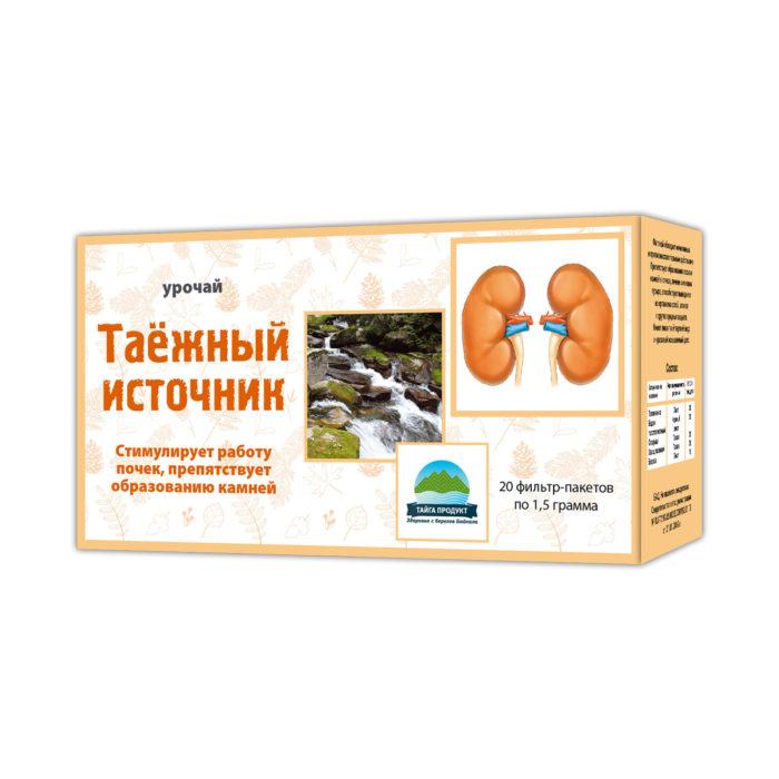 Таежный источник - фиточай 20 фильтр-пакетов по 1,5г (мочегонный)