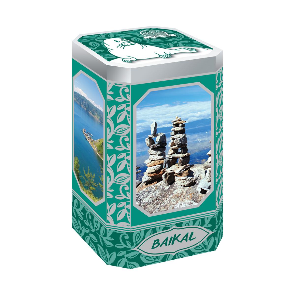 """Фиточай """"Байкальские легенды"""" в сувенирной жестяной банке 70г (витаминный)"""
