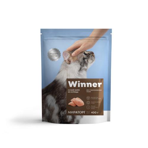 Полнорационный сухой корм для стерилизованных кошек из курицы 400 г
