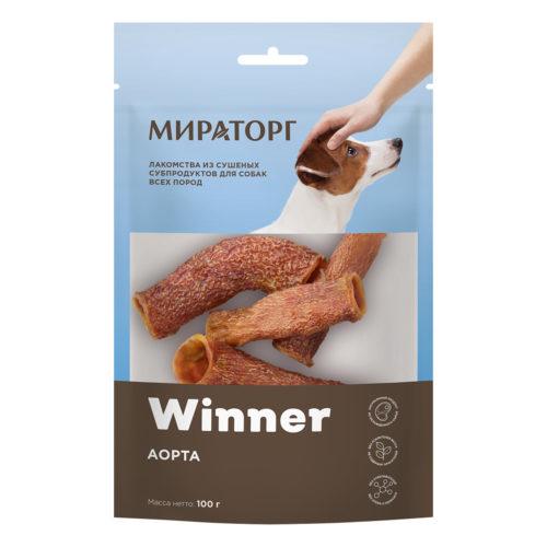 Winner лакомство сухое для собак. Аорта говяжья. 100 г