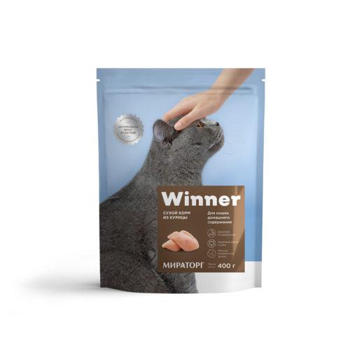 Полнорационный сухой корм для кошек домашнего содержания из курицы 400 г