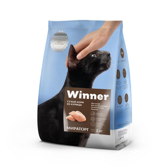 Полнорационный сухой корм для кошек с мочекаменной болезнью из курицы 2 кг