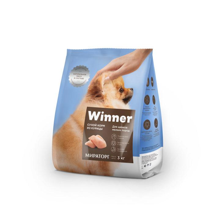 Полнорационный сухой корм для щенков мелких пород из курицы 3 кг