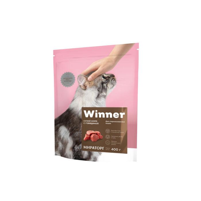 Полнорационный сухой корм для стерилизованных кошек с говядиной 400 г