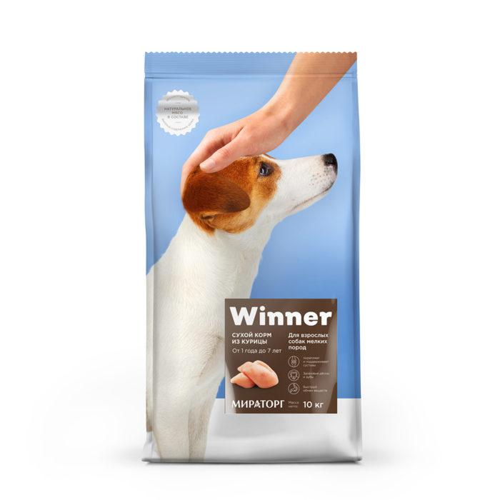 Полнорационный сухой корм для взрослых собак мелких пород из курицы 10 кг