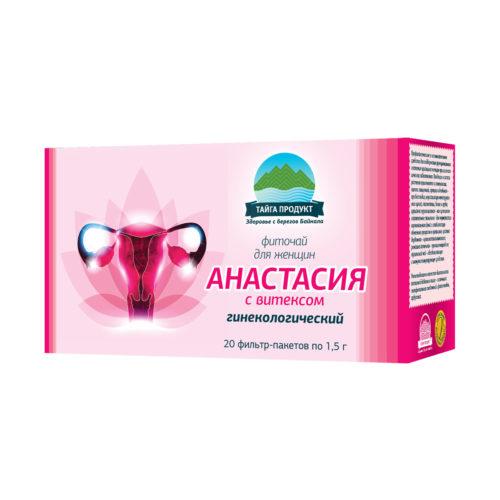 Анастасия с витексом - фиточай 20 фильтр-пакетов по 1,5г (гинекологический)